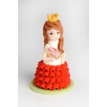 Hercegnő marcipán figura változatos színű ruhában (50g)