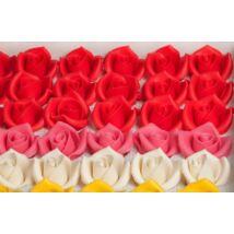 Közepes rózsa marcipán virág