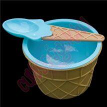 kék fagyispohár