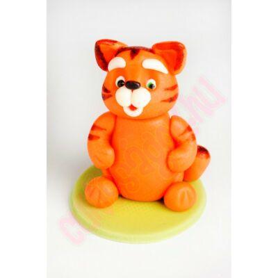 vörös csíkos cica