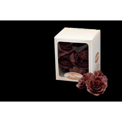 barna virág ostya