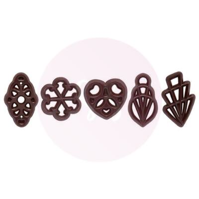 """Csokoládé dekoráció """"Filigranes Milla"""""""