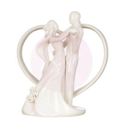 táncoló nászpár porcelán